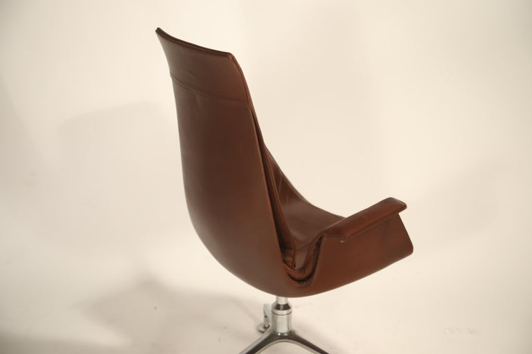 Set of Eight Bird Chairs by Preben Fabricius and Jørgen Kastholm for Alfred Kill For Sale 12