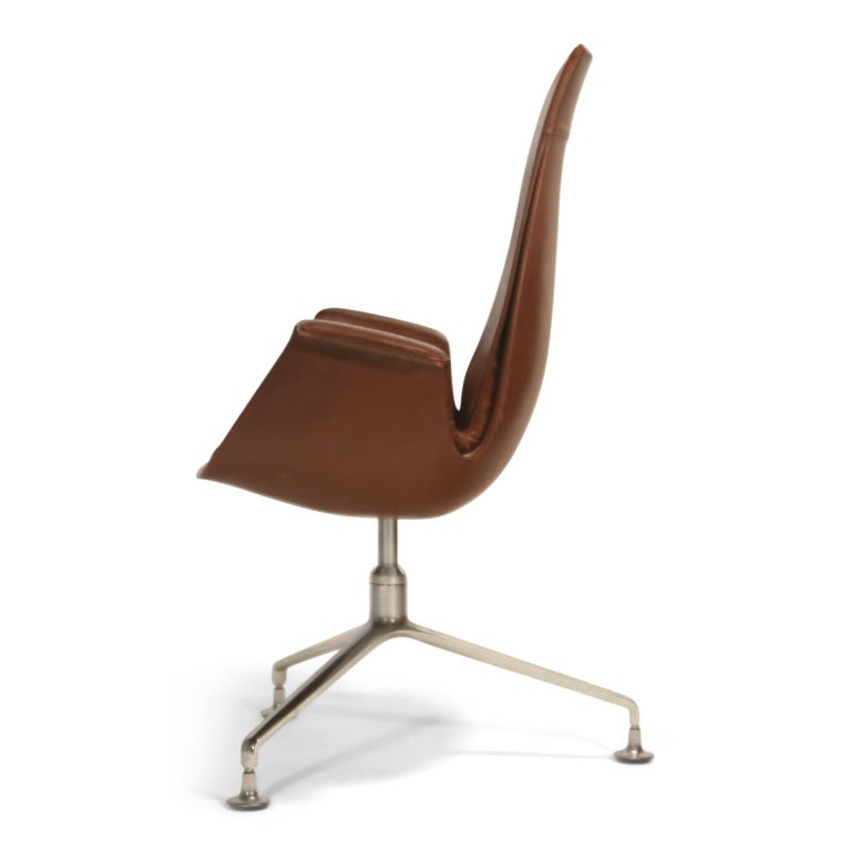 German Set of Eight Bird Chairs by Preben Fabricius and Jørgen Kastholm for Alfred Kill For Sale