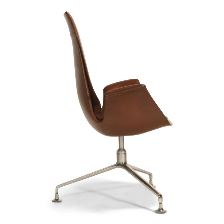 Set of Eight Bird Chairs by Preben Fabricius and Jørgen Kastholm for Alfred Kill For Sale 1