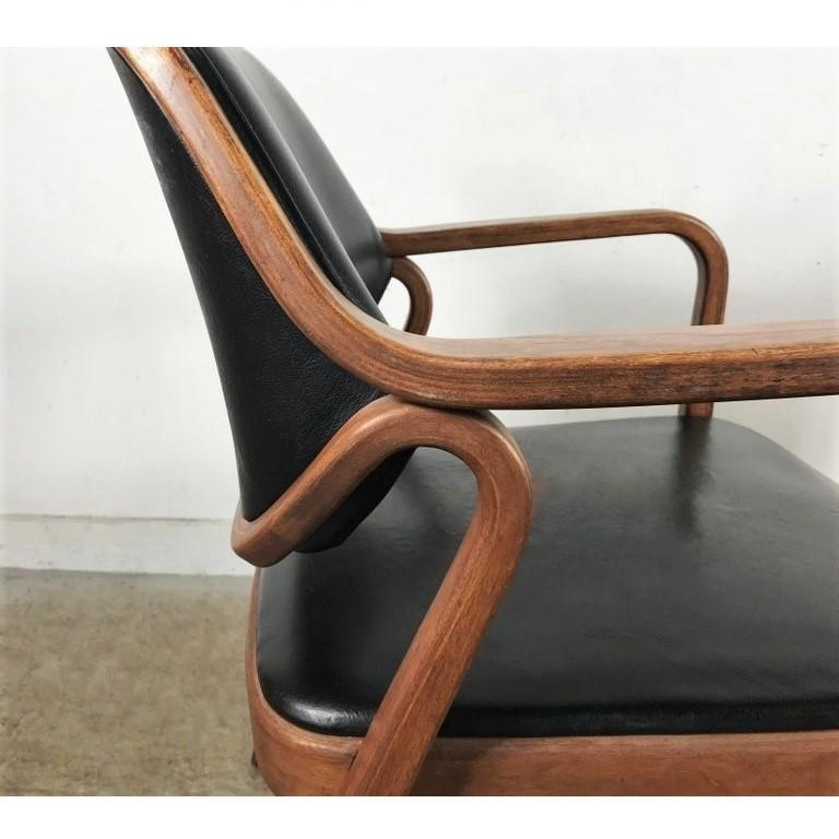 American Set of Eight Black Don Petitt Bentwood Armchairs for Knoll For Sale