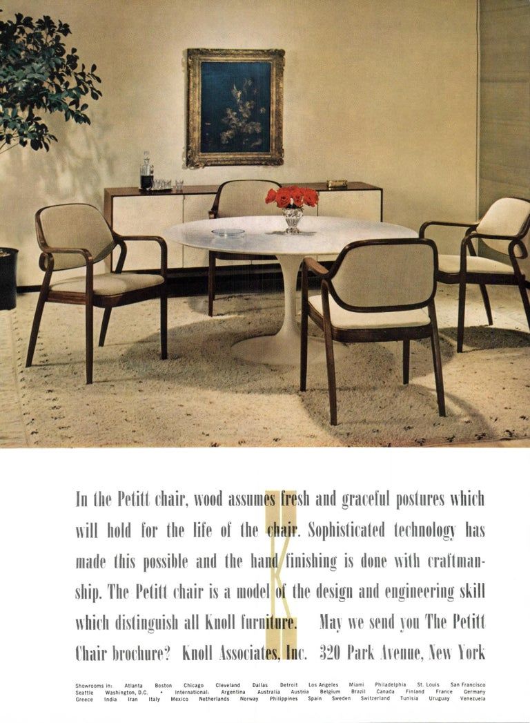 Set of Eight Black Don Petitt Bentwood Armchairs for Knoll For Sale 2