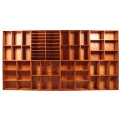 Set of Eight Bookcases in Pine by Mogens Koch, Danish Design, Midcentury, 1950s
