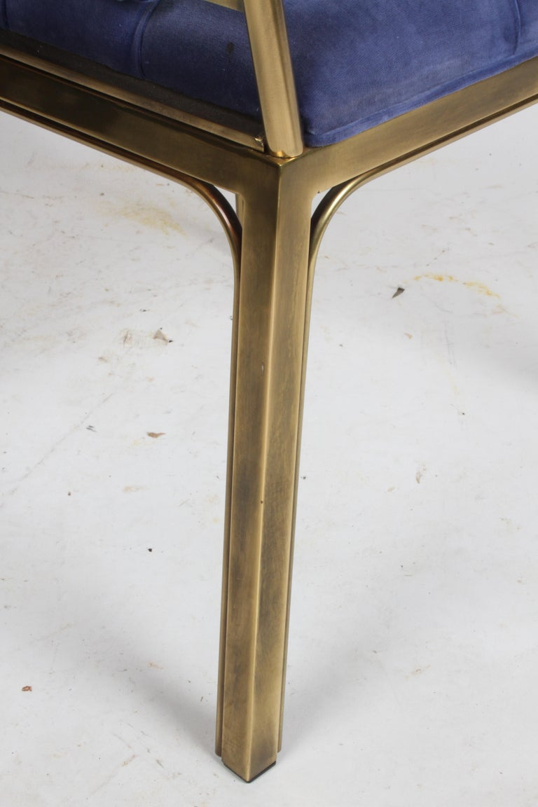 Set of Eight Brass Mastercraft Greek Key Hollywood Regency Dining Chairs For Sale 9