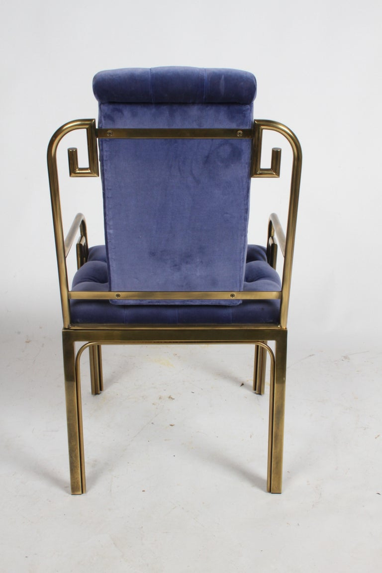 Set of Eight Brass Mastercraft Greek Key Hollywood Regency Dining Chairs For Sale 10