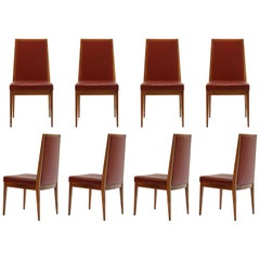 Set of Eight Brazilian Caviuna Rosewood Dining Chairs by Móveis Teperman, 1960
