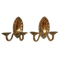 Set of Eight Bronze Neoclassic Sconces