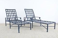 Set of Eight Brown Jordan Aluminum Chaise Lounges