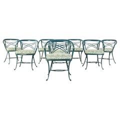 Set of Eight Brown Jordan Classic Garden Dining Armchairs