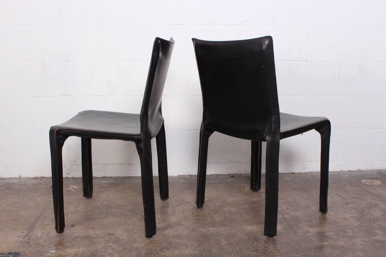 Set of Eight Cab Chairs by Mario Bellini for Cassina For Sale 6