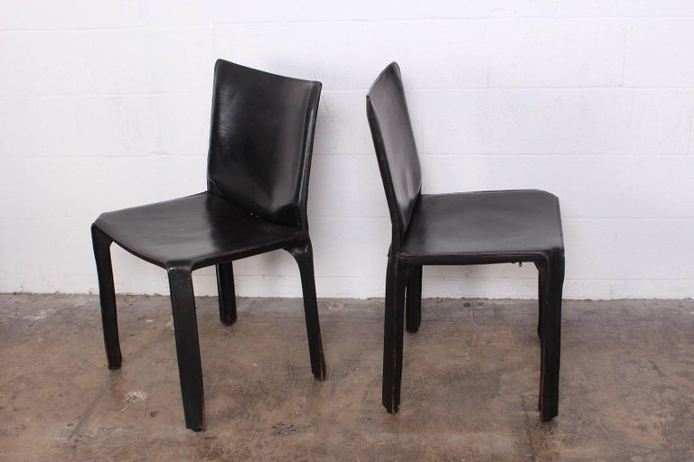 Set of Eight Cab Chairs by Mario Bellini for Cassina For Sale 2