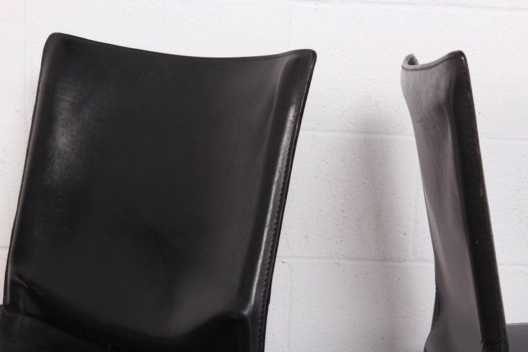 Set of Eight Cab Chairs by Mario Bellini for Cassina For Sale 4