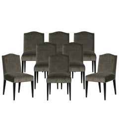 Set of Eight Carrocel Custom Chameau Dining Chairs