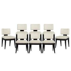 Set of Eight Carrocel Custom Jonsie Dining Chairs