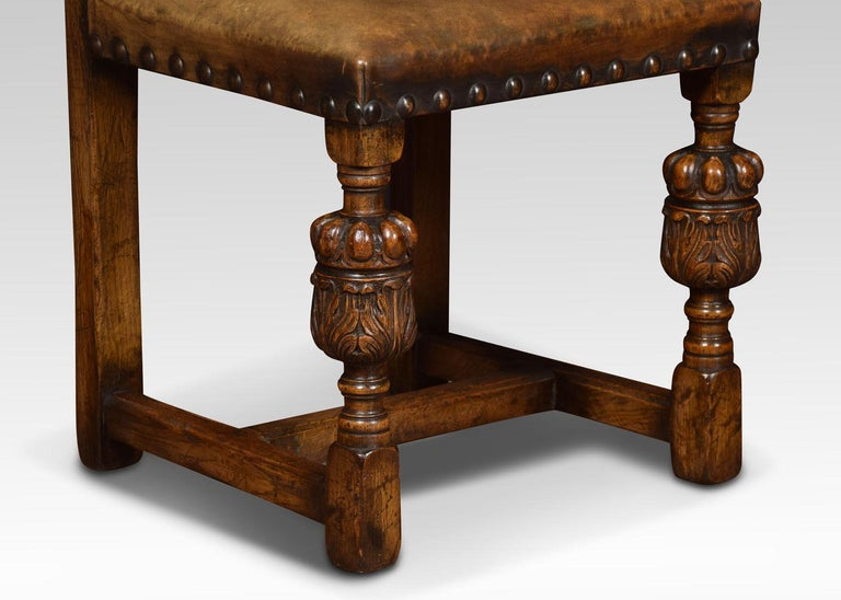 20th Century Set of Eight Carved Oak Dining Chairs For Sale