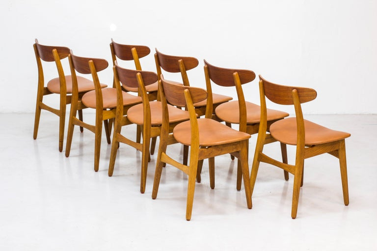 Set of eight dining chairs model