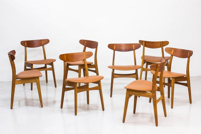 Scandinavian Modern Set of Eight