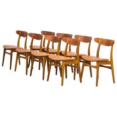 "Set of Eight ""CH30"" Chairs by Hans J. Wegner, Denmark, 1960s"