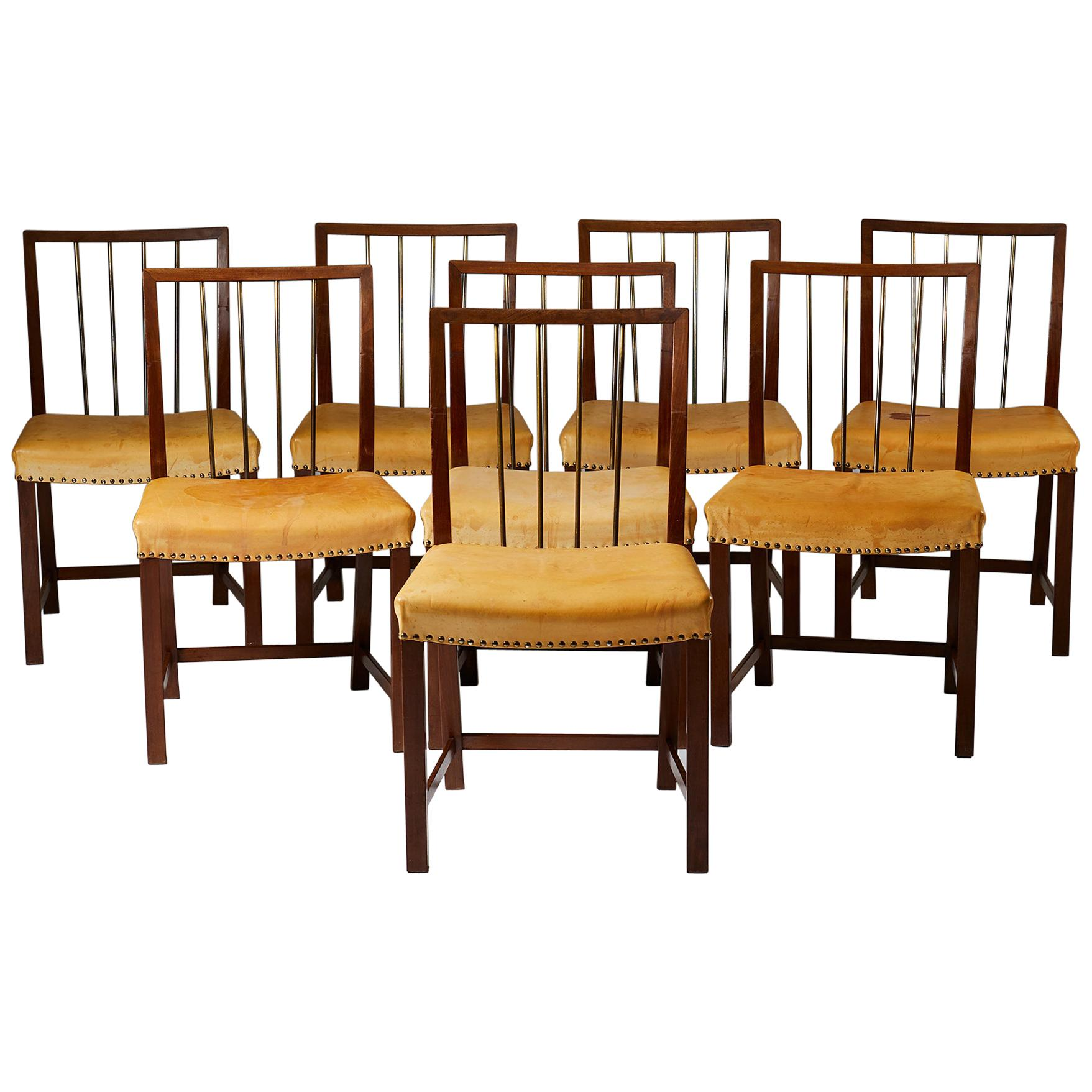 Set of Eight Chairs, Anonymous, Denmark, 1940s