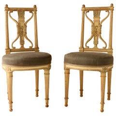 Set of Eight Chairs, Antique Patina, Maison Jansen