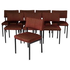 Set of Eight Chairs by Alain Richard, France, circa 1960