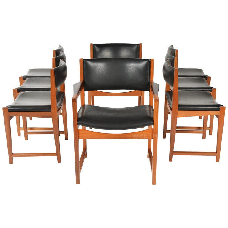 Set of Eight Chairs For Sale