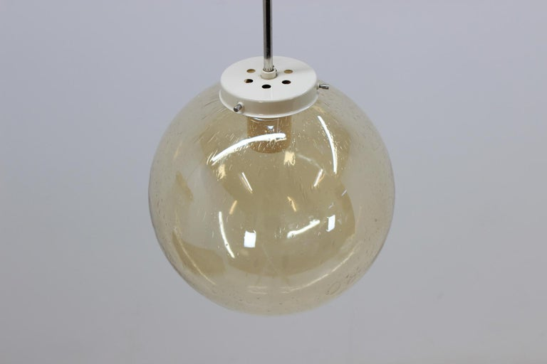 Mid-Century Modern Set of Eight Chandeliers or Pendants, 1960s For Sale