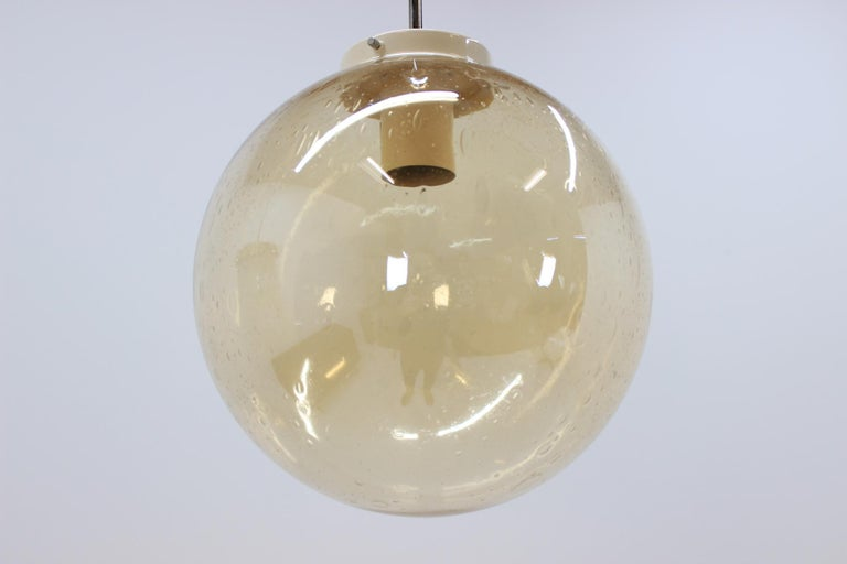 Czech Set of Eight Chandeliers or Pendants, 1960s For Sale