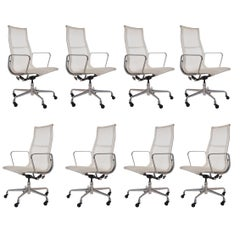 Set of Eight Charles Eames for Herman Miller Conference Room Office Chairs