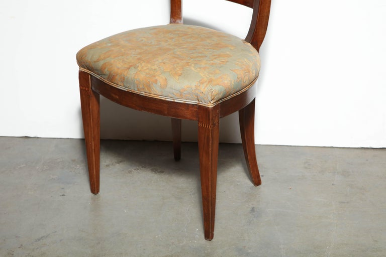 French Set of Eight Charles X Dining Chairs For Sale