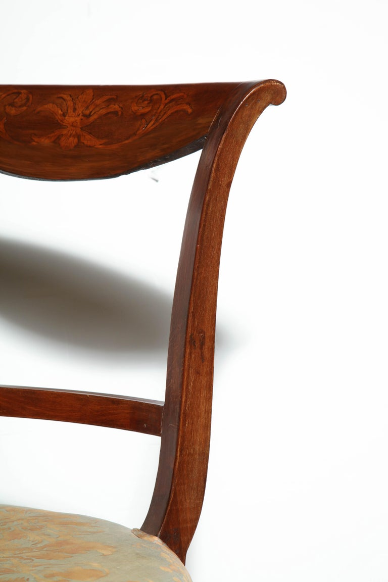 Early 19th Century Set of Eight Charles X Dining Chairs For Sale
