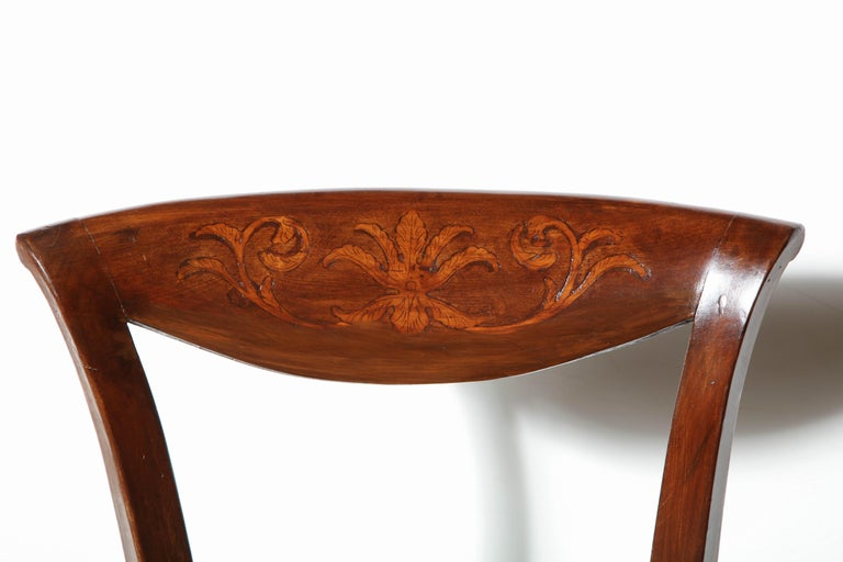 Set of Eight Charles X Dining Chairs For Sale 3