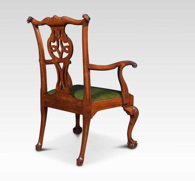 Set of Eight Chippendale Style Dining Chairs For Sale 4