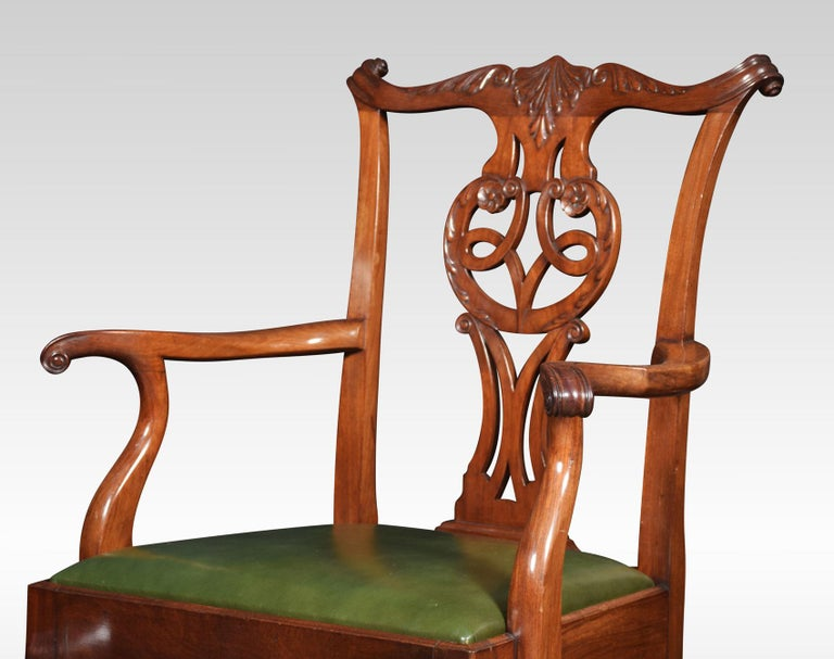 Set of Eight Chippendale Style Dining Chairs For Sale 2