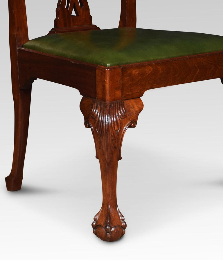 Set of Eight Chippendale Style Dining Chairs For Sale 3