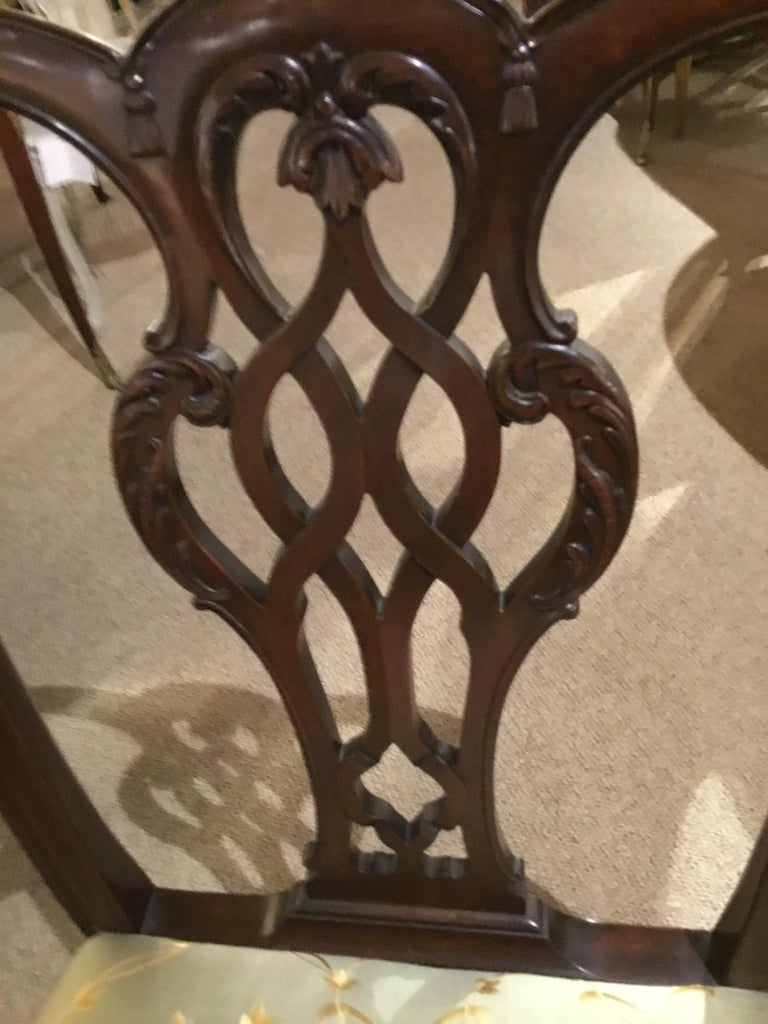 American Set of Eight Chippendale-Style Mahogany Armchairs For Sale