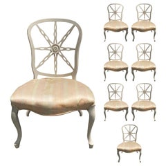 Set of Eight circa 1940s-1960s Modified Wheelback Dining Side Chairs
