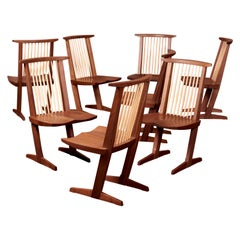 Set of Eight Conoid Dining Chairs by George Nakashima Studio, US, 2021