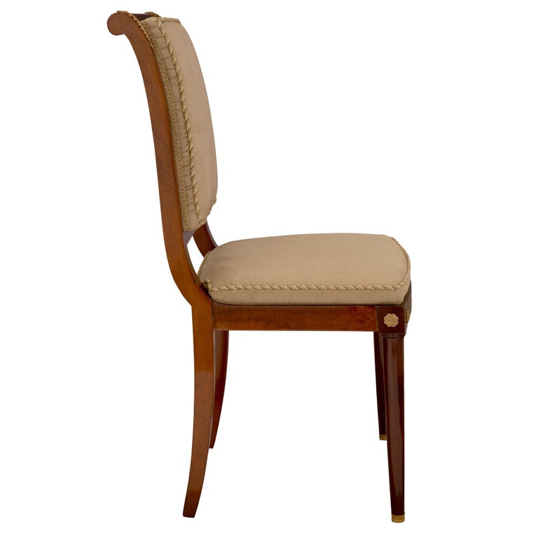Set of Eight Continental 19th Century Biedermeier Style Dining Chairs In Good Condition For Sale In West Palm Beach, FL