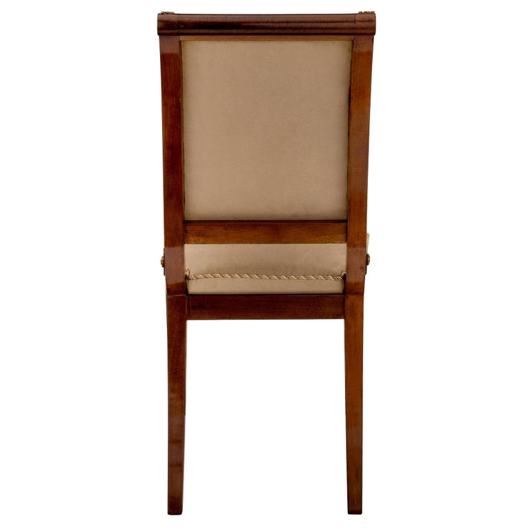 Ormolu Set of Eight Continental 19th Century Biedermeier Style Dining Chairs For Sale