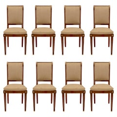 Set of Eight Continental 19th Century Biedermeier Style Dining Chairs
