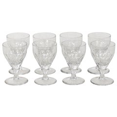 Set of Eight Crystal Glasses by William Yeoward