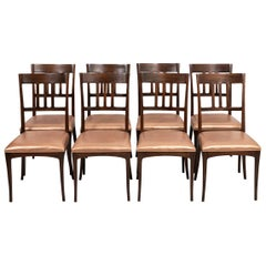 Set of Eight Custom Designed Chairs by Stephen Piscoskas