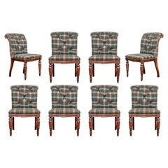 Set of Eight Custom Ralph Lauren Upholstered Dining Chairs