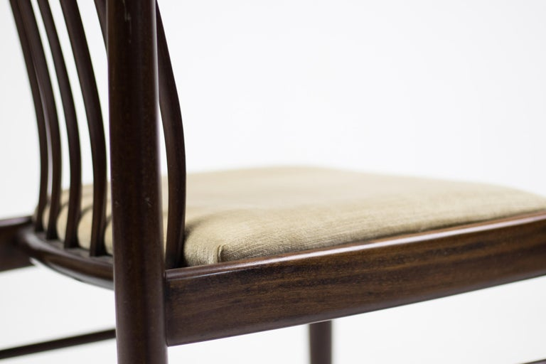Set of Eight Danish Dining Chairs by H.W. Klein in Mahogany In Good Condition For Sale In Dronten, NL