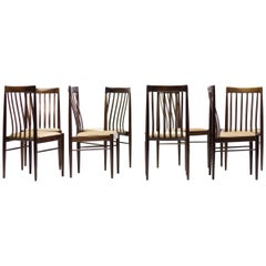 Set of Eight Danish Dining Chairs by H.W. Klein in Mahogany