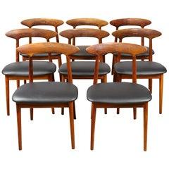 Set of Eight Danish Modern Kurt Ostervig Dining Chairs for Brande Mobelindustri