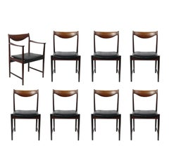 Set of Eight Danish Modern Rosewood Dining Chairs designed by Torbjorn Afdal
