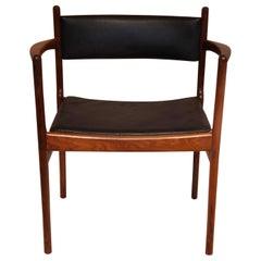 Set of Eight Danish Rosewood Chairs by Kai Lyngfeldt for Søren Willadsen