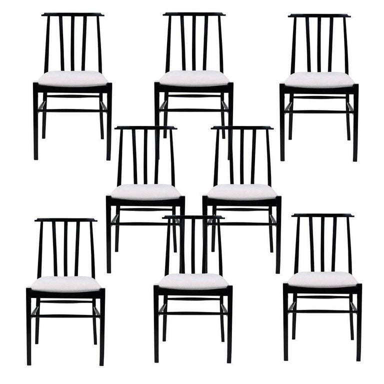Set of Eight Danish-Style Dining Room Chairs