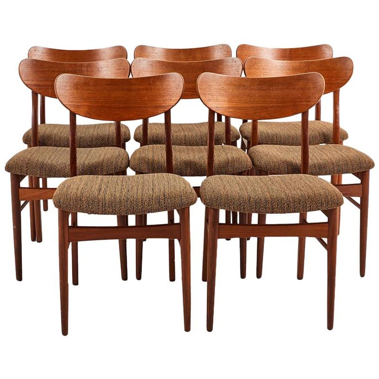 Super Set Of Eight Danish Teak Dining Chairs Squirreltailoven Fun Painted Chair Ideas Images Squirreltailovenorg